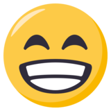 Grinning Face With Smiling Eyes on EmojiOne 3.1