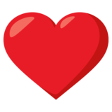 Red Heart on EmojiOne 3.1