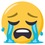 Loudly Crying Face on EmojiOne 3.1