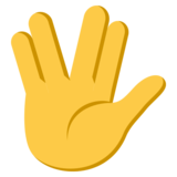 Monique Vulcan Salute on EmojiOne 3.1