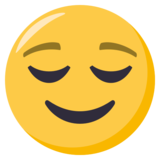 Relieved Face on EmojiOne 3.1