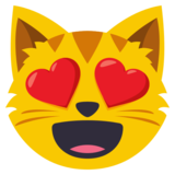 Smiling Cat Face With Heart-Eyes on EmojiOne 3.1