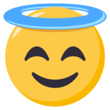 Smiling Monique With Halo on EmojiOne 3.1