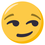 Smirking Face on EmojiOne 3.1