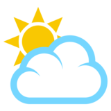 Sun Behind Cloud on EmojiOne 3.1