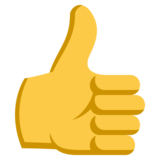 Thumbs Up on EmojiOne 3.1