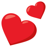 Two Hearts on EmojiOne 3.1