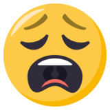 Weary Face on EmojiOne 3.1