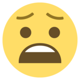 Anguished Face on EmojiOne 2.0