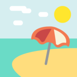 Beach With Umbrella on EmojiOne 2.0