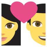 Couple With Heart on EmojiOne 2.0