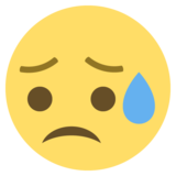 Disappointed but Relieved Face on EmojiOne 2.0