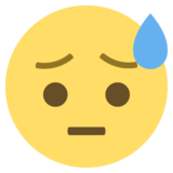 Face With Cold Sweat on EmojiOne 2.0