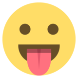 Face With Stuck-Out Tongue on EmojiOne 2.0