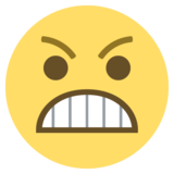 Grimacing Face on EmojiOne 2.0