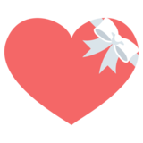 Heart With Ribbon on EmojiOne 2.0