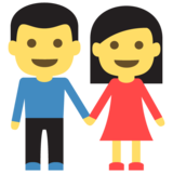 Man and Woman Holding Hands on EmojiOne 2.0