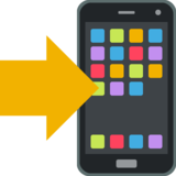 Mobile Phone With Arrow on EmojiOne 2.0