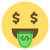 Money-Mouth Face on EmojiOne 2.0