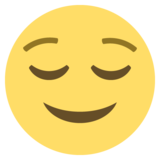 Relieved Face on EmojiOne 2.0