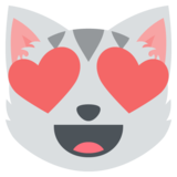 Smiling Cat Face With Heart-Eyes on EmojiOne 2.0