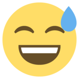 Smiling Face With Open Mouth & Cold Sweat on EmojiOne 2.0