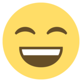 Grinning Face With Smiling Eyes on EmojiOne 2.0