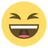 Grinning Squinting Face on EmojiOne 2.0