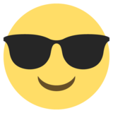 Smiling Face With Sunglasses on EmojiOne 2.0
