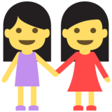 Two Women Holding Hands on EmojiOne 2.0