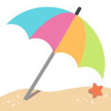 Umbrella on Ground on EmojiOne 2.0