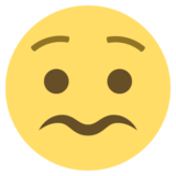 Worried Face on EmojiOne 2.0