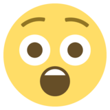 Astonished Face on EmojiOne 2.1