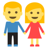 Man and Woman Holding Hands on EmojiOne 2.1
