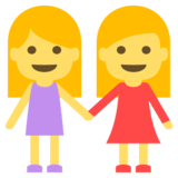 Two Women Holding Hands on EmojiOne 2.1