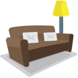 Couch and Lamp on EmojiOne 1.0