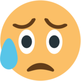 Disappointed but Relieved Face on EmojiOne 1.0