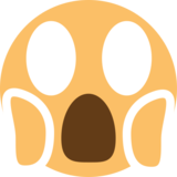 Face Screaming in Fear on EmojiOne 1.0