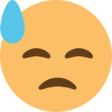 Downcast Face With Sweat on EmojiOne 1.0