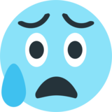 Face With Open Mouth & Cold Sweat on EmojiOne 1.0