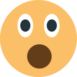 Face With Open Mouth on EmojiOne 1.0