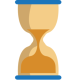 Hourglass With Flowing Sand on EmojiOne 1.0