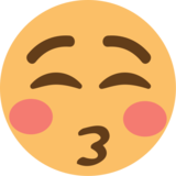 Kissing Face With Closed Eyes on EmojiOne 1.0