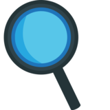 Left-Pointing Magnifying Glass on EmojiOne 1.0