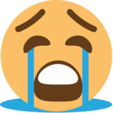 Loudly Crying Face on EmojiOne 1.0