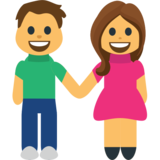 Man and Woman Holding Hands on EmojiOne 1.0
