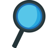 Right-Pointing Magnifying Glass on EmojiOne 1.0