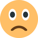Slightly Frowning Face on EmojiOne 1.0