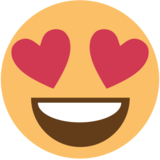 Smiling Face With Heart-Eyes on EmojiOne 1.0
