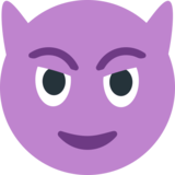 Smiling Face With Horns on EmojiOne 1.0